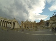 St. Peter's Basilica, one of the biggest churches I've seen