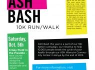 SF ASH Bash Poster