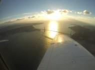 Flying over the Golden Gate Bridge