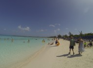 Blue waters and white sand at Half Moon Cay