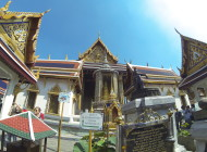 Entering the Grand Palace in Bangkok